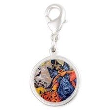 Card 1 august 15 lighter Silver Round Charm