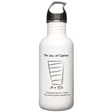 law of laplace 1 Sports Water Bottle