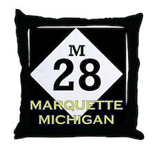 M28marquette Throw Pillow