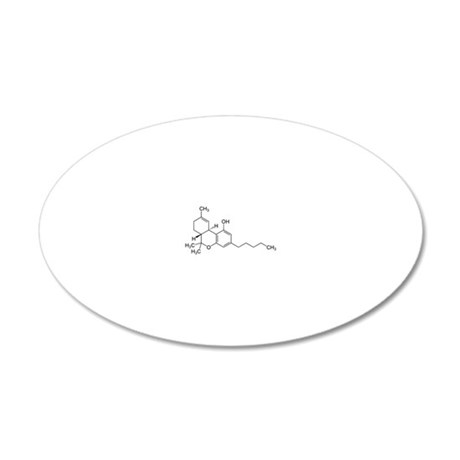 2-THC 20x12 Oval Wall Decal