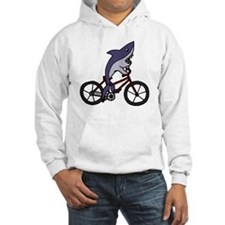 Funny Shark Riding Bicycle  Hoodie