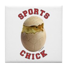 Volleyball Chick 3 Tile Coaster