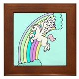 Retro Pegasus Framed Tile