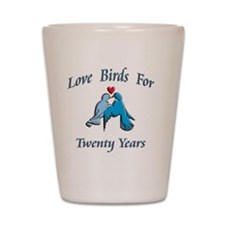 love birds 20 Shot Glass