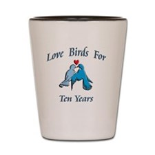 love birds 10 Shot Glass