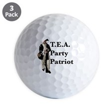 Tea party patriot Golf Ball