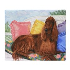 Irish Setter Dog Throw Blanket