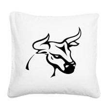 Tribal bull Square Canvas Pillow