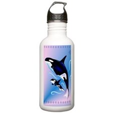 Orca Mom and Baby_jour Sports Water Bottle