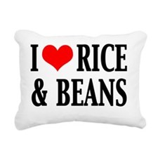 2-I HEART RICE AND BEANS Rectangular Canvas Pillow