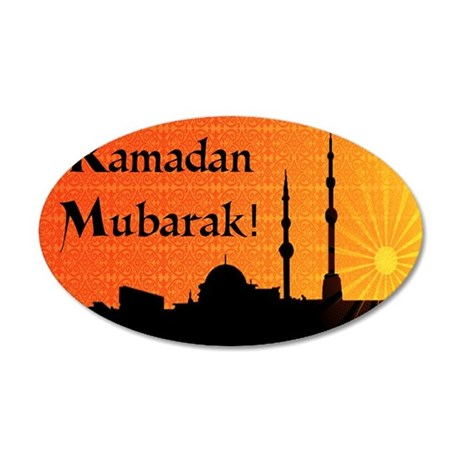 ramadanmubarak 35x21 Oval Wall Decal