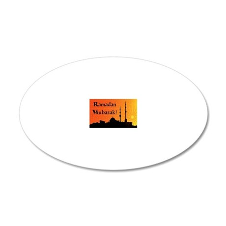 ramadanmubarak 20x12 Oval Wall Decal