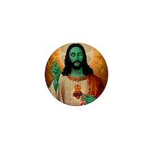 Zombie Jesus Loves Brains Mini Button