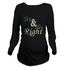 Mr. and Mrs Long Sleeve Maternity T-Shirt