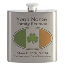 Irish Family Reunion with YOUR NAME Flask