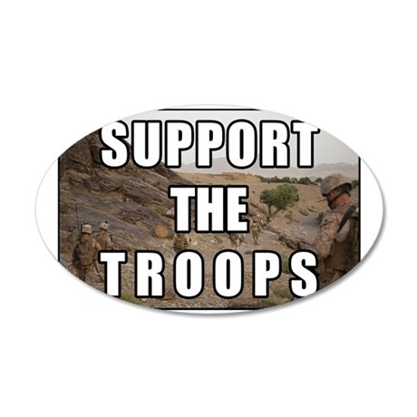 Support the Troops 35x21 Oval Wall Decal