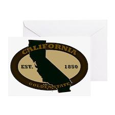 California Est 1850 Greeting Card