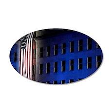 Pentagon Memorial Flag 35x21 Oval Wall Decal