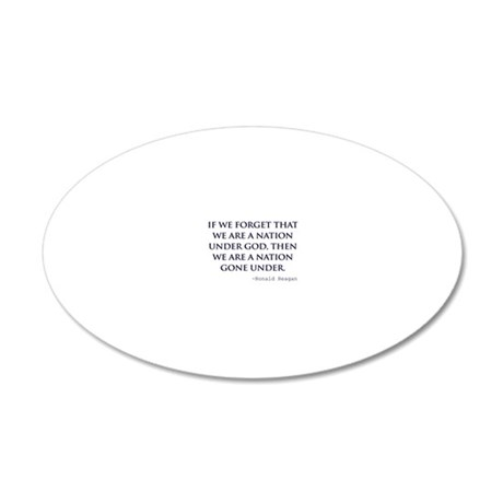 Reagan_nation-under-god-(whi 20x12 Oval Wall Decal