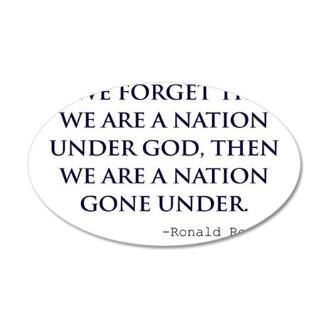 Reagan_nation-under-god-(whi 35x21 Oval Wall Decal