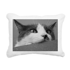 Kittyface_poster_bw Rectangular Canvas Pillow