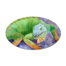 iguana-upsize 35x21 Oval Wall Decal
