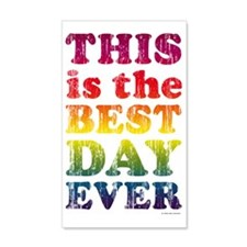 Best Day Ever Poster Wall  Decal Sticker