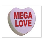 Mega Love Valentine Candy Heart Small Poster