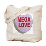 Mega Love Valentine Candy Heart Tote Bag