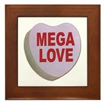 Mega Love Valentine Candy Heart Framed Tile