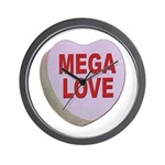 Mega Love Valentine Candy Heart Wall Clock