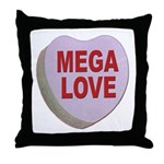 Mega Love Valentine Candy Heart Throw Pillow