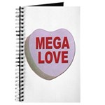 Mega Love Valentine Candy Heart Journal
