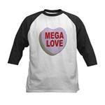 Mega Love Valentine Candy Heart Kids Baseball Jers