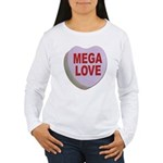 Mega Love Valentine Candy Heart (Front) Women's Lo