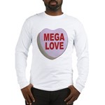 Mega Love Valentine Candy Heart (Front) Long Sleev