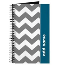Gray Blue Chevrons Journal