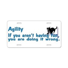 Agility Having Fun Aluminum License Plate