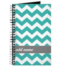 Teal Gray Chevrons Journal