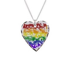 2-paint rainbow Necklace