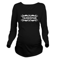 Tribal Tajikistan Long Sleeve Maternity T-Shirt