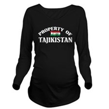 Property Of Tajikistan Long Sleeve Maternity T-Shi