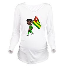 Cute 3D Togo Long Sleeve Maternity T-Shirt