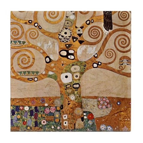 Gustav Klimt Art Tile Set Tree of Life - P2of2