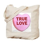 True Love Candy Valentine Heart Tote Bag