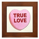 True Love Candy Valentine Heart Framed Tile