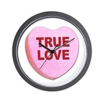 True Love Candy Valentine Heart Wall Clock