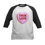 True Love Candy Valentine Heart Kids Baseball Jers