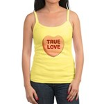 True Love Candy Valentine Heart Jr. Spaghetti Tank