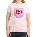 True Love Candy Valentine Heart Women's Pink T-Shi